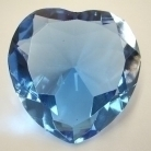 Heart Shape Blue Crystal