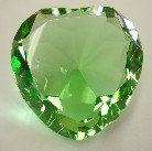 Heart Shape Green Crystal