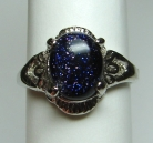 Blue Goldstone Fashion Rings