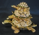 Bejeweled Cloisonne 3-Turtle
