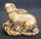 Brass Metal Rabbit Statue