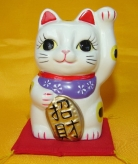 Lucky Cat with Left Hand Up