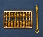 Golden Abacus with Golden Pen