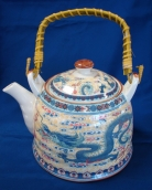 Teapot w/ Dragon Pictures