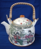 Porcelain Teapot w/ Lady Pictures