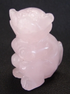 Rose Quartz Monkey Statue