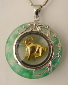 Golden Pig Pendant