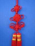 Lucky Charm with Mystic Knot, Butterfly Knot and Red Tassel