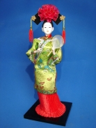 Chinese Collectible Doll with Fan