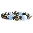 Magnetic Bracelet - Aqua and Black