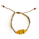5 Element String with Yellow Omani Bead