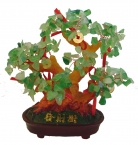 Aventurine Gem Tree with Coins