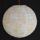 2 of White Paper Lanterns with Pictures
