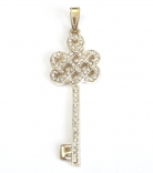 Bejeweled Mystic Knot with Key Pendant