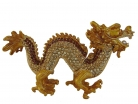 Bejeweled Golden Dragon Statue