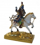 Bejeweled King Gesar of Ling Statue