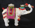 Bejeweled Elephant Statue Carrying Ru Yi