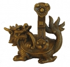 Brass Dragon Tortoise Statue Carrying Ru Yi