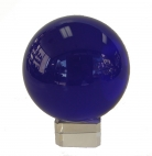 Blue Crystal Ball with Crystal Stand