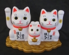 Solar Energy White Money Cat Family