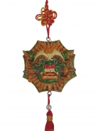 Charm of Lion Head with Sword and Bagua