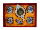 Chinese Style Tea Set with Dragon Phoenix Pictures