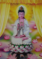 3D Sitting Guan Yin Picture