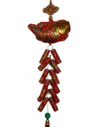 New Year Charm - Fish with Lucky Firecrackers
