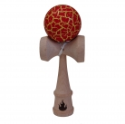 Yellow/Red Crackle Kendama