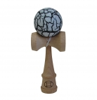 Black/White Crackle Kendama