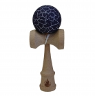 White/Dark Purple Crackle Kendama