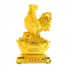 24 Inch Big Golden Rooster Statue