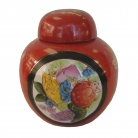 Red Money Jar with Cover