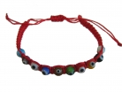 10-Evil-eye-bead Red Bracelet