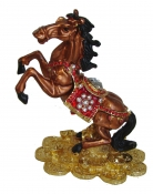 Bejeweled Cloisonne Brown Windhorse Statue