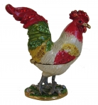 Bejeweled Cloisonne Rooster Statue