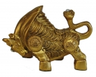 Golden Chinese Ox Statue
