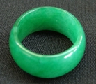Chinese Jade Rings with Wide Band