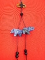 Blue Rhinoceros and Elephant Charm