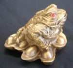 Brass Money Frog