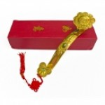 Big Golden Ru Yi Scepter with Auspicious Words