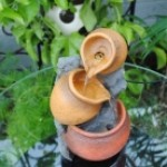 Tiered Pots Tabletop Fountain