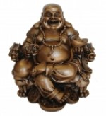 Chinese Buddha Statue on Dragon Chair