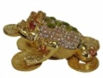 Big Bejeweled Cloisonne Money Frog Statue